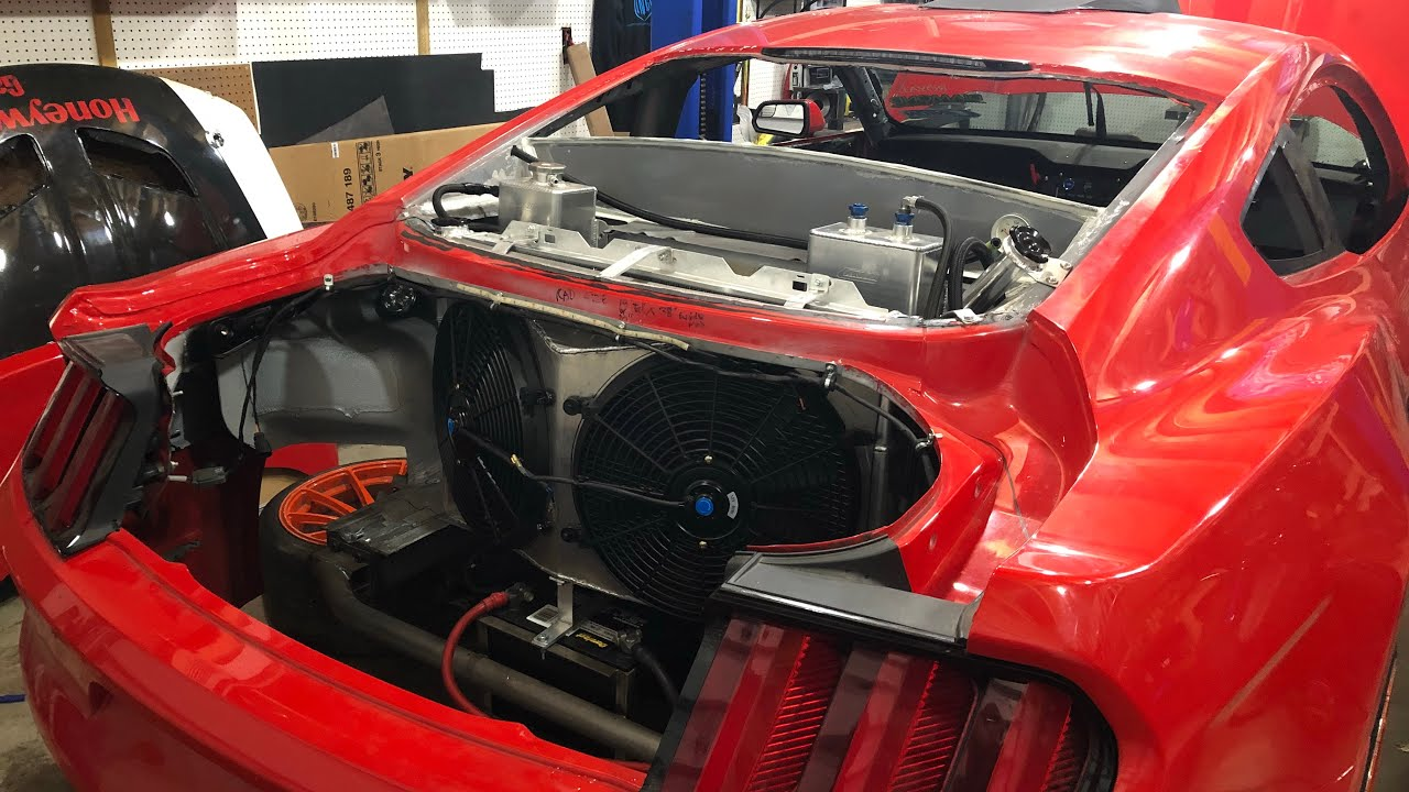 Shane Whalley LS Mustang With Rear Mount Cooling System